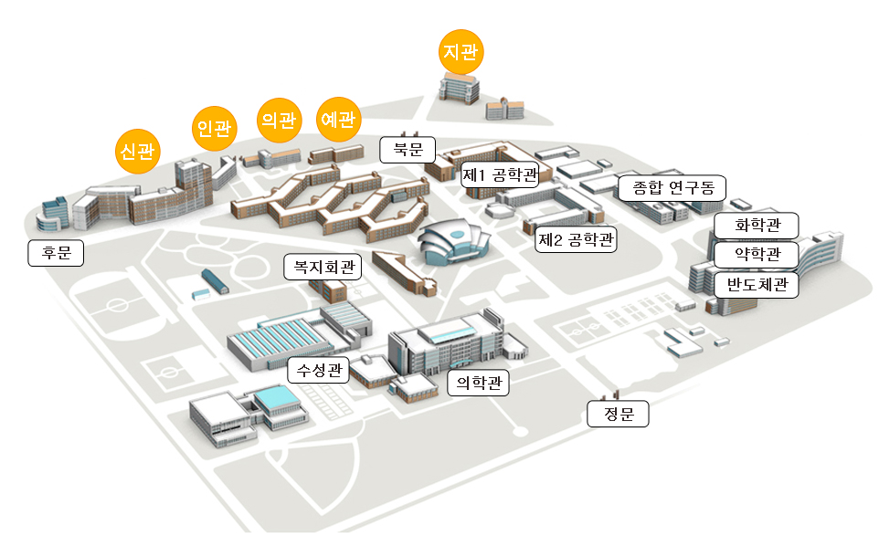 Location of Dormitories